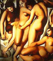 Tamara de Lemp.Femmes au bain (Women Bathing) 1929, private collection